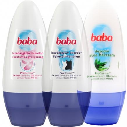 Baba Érzékeny Bőrre izzadásgátló golyós dezodor 50ml
