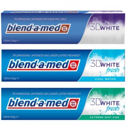Blend-A-Med 3D White fehérítő fogkrém 100ml