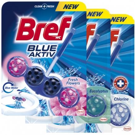 Bref blue aktiv fresh flowers toalett frissítő 50g