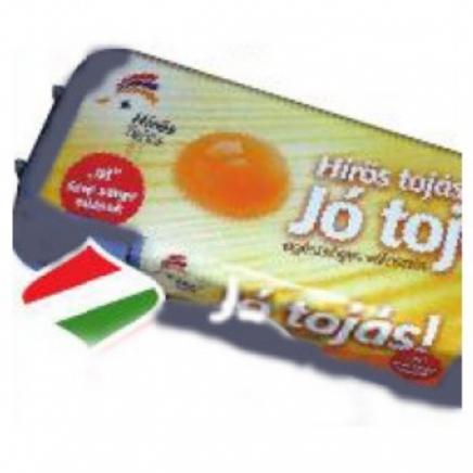 Friss tojás,sárga,10 db-os,dobozban