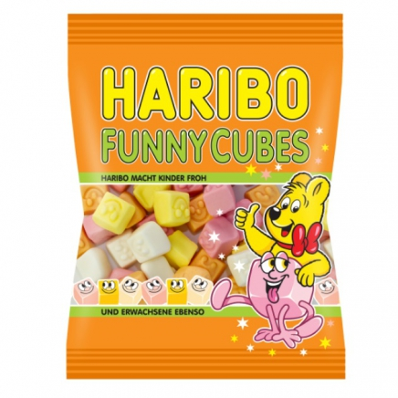 Haribo funny cubes gumicukor 100g