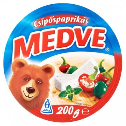 Medve csípőspaprikás kenhető ömlesztett sajt 6 db 200 g