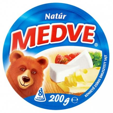 Medve natúr kenhető ömlesztett sajt 8 db 200 g