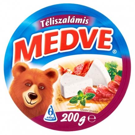 Medve téliszalámis kenhető ömlesztett sajt 6 db 200 g