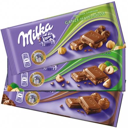 Milka Egész Mogyorós tejcsokoládé 100g