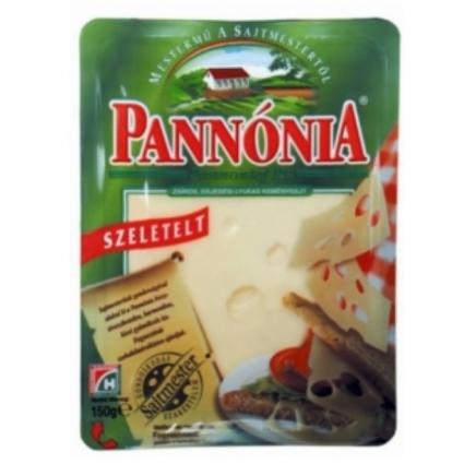 Pannónia szeletelt sajt 125g