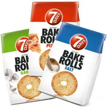 7Days Bake rolls kenyérchips több ízben