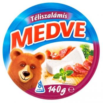 Medve téliszalámis kenhető ömlesztett sajt 8 db 140 g