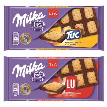 Milka LU és TUC kekszes csokoládék 87g