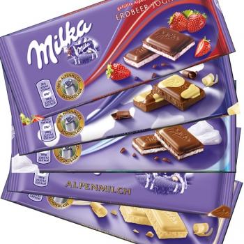 Milka táblás csokoládék 100g