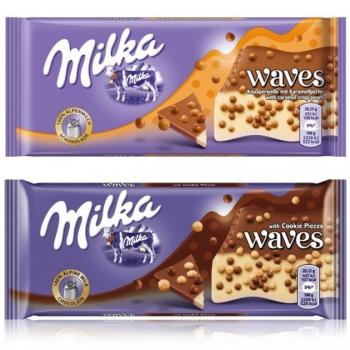 Milka Waves csokoládék gabonagolyókkal 81g