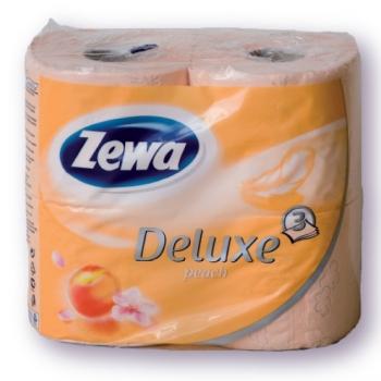 Zewa deluxe toalettpapír barack 4 tekercses 3 rétegű