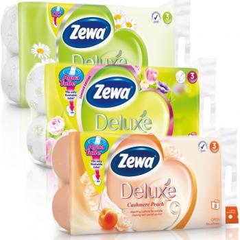 Zewa deluxe toalettpapírok 3 rétegű 8 tekercses
